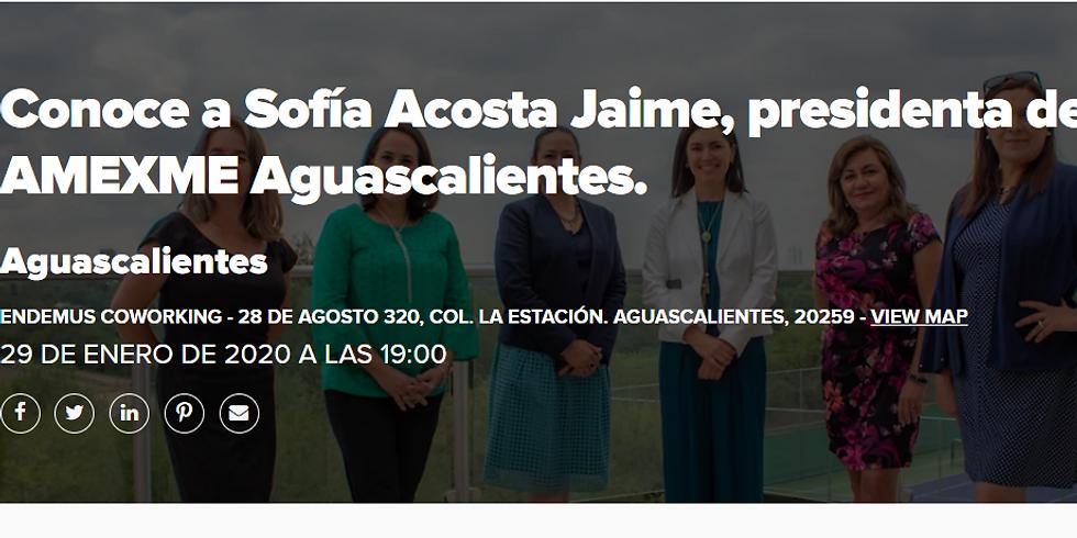 Conoce a Sofía Acosta Jaime, presidenta de AMEXME Aguascalientes.
