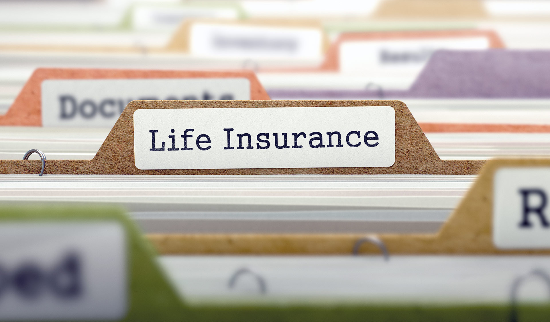 Life Insurance file in file drawer