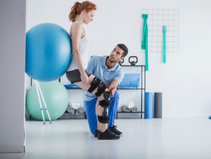 Woman getting physical therapy