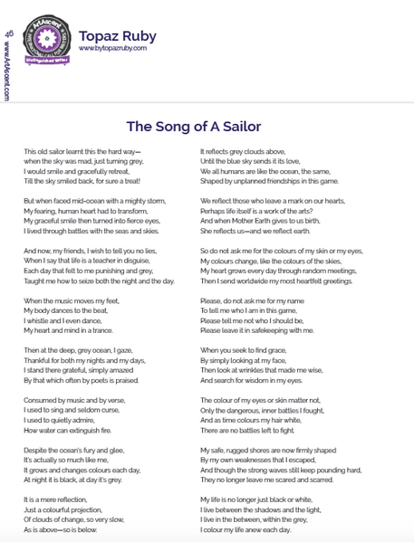 The Song Of A Sailor
