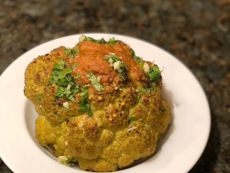 Baked Whole Cauliflower