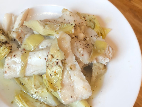 Fish with Marinated Artichokes