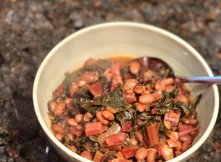 Swiss Chard with Pinto Beans