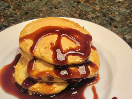 Squash Pancakes with Date Syrup