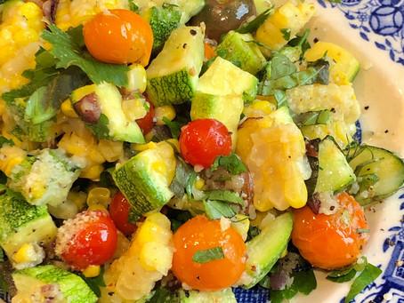 Corn, Tomato, Zucchini Side Dish
