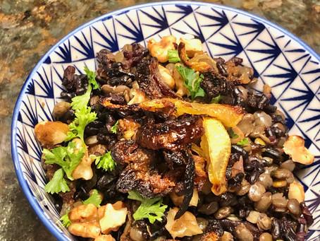 Mejadra with Black Rice