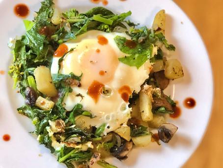 Kale & Sweet Potato Hash