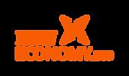 new economy dot eco lockin logo in orang