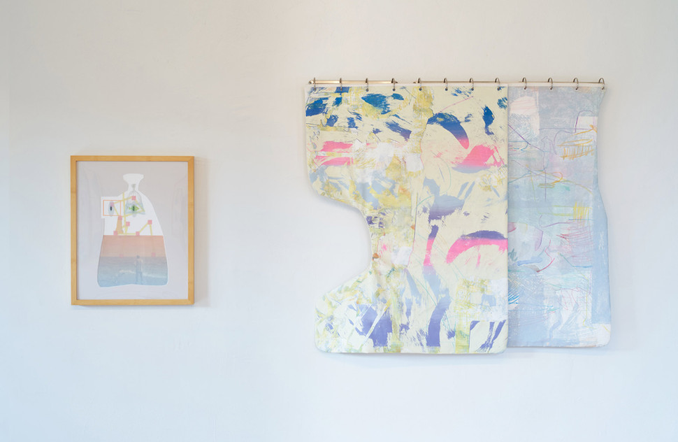 (left) Tidal Contents, (right) Maybe Sit With Yellow & Image as Afterthought by Sonnenzimmer