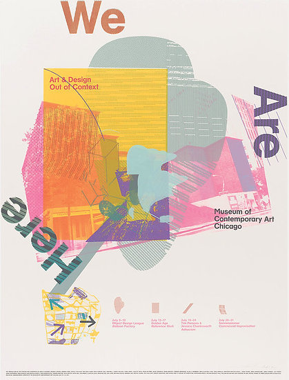 We Are Here: Design Out of Context Exhibit Poster