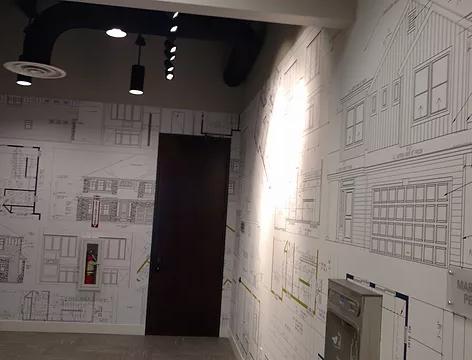 Oakwood Homes Showroom digital wallcovering