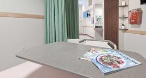 Hospital Room with Plastic Laminate