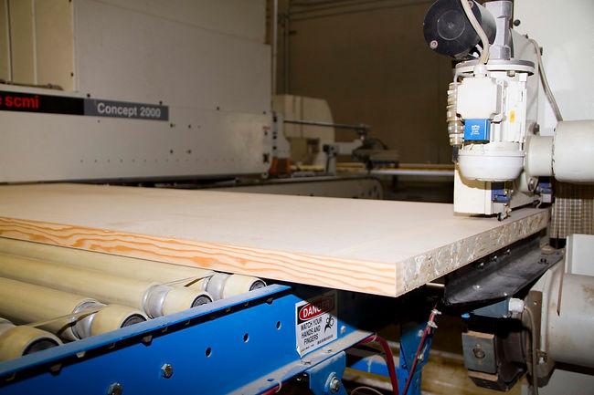machine for wood door