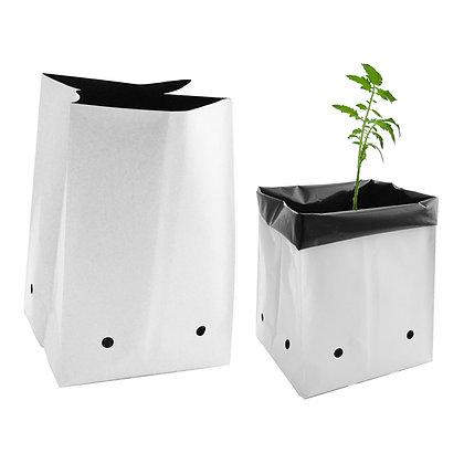 Rooftop,Tarrace, Kitchen Gardening Grow Bag White LDPE 40cm set of 10