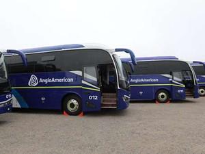 Chile: Anglo American presenta la flota de buses eléctricos más grande de Sudamérica
