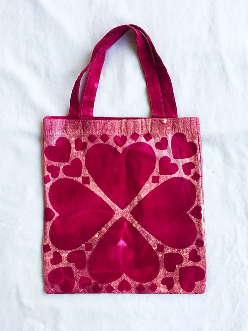 Freeload Heart Canvas Tote Bag
