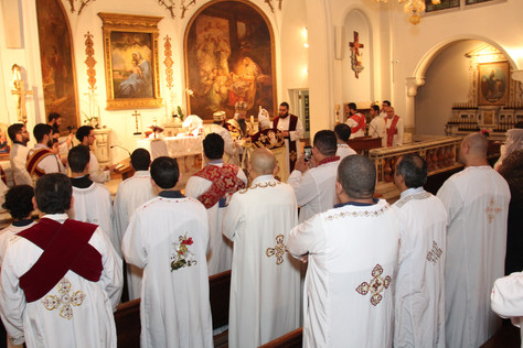 First Liturgy of St. Mary and St. Mark in new home on East 62nd Street