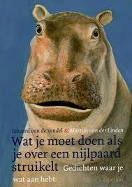 Wat moet je doen als je over een nijlpaard struikelt?, Edward van de Vendel, Martijn van de Linden, dichtenbundel, gedichten, querido, titelpagina