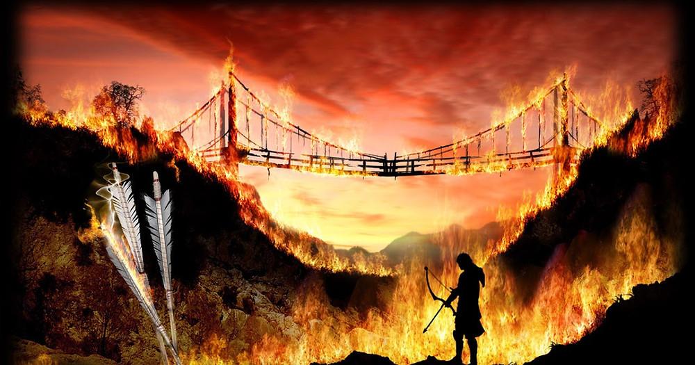 De grijze jager, Part 2, Deel 2, Boek 2, de brandende brug, omslag, Halt, Will, The Ranger's apprentice