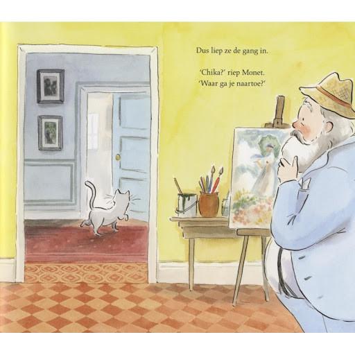 De Kat van Monet, Monet, Kat, pagina, tekening, schilder