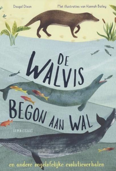 De walvis begon aan wal, lemniscaat, titelpagina, Dougal Dixon, Hannah Bailey