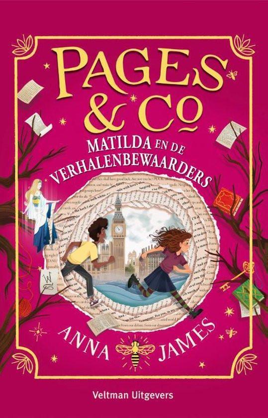 Pages en Co, deel 3, Matilda en de verhalenbewaarders, voorkant, roze, anna james