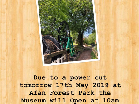 Closing early17th May 2019 due to a power cut!