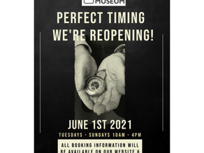 WE ARE REOPENING!  We are pleased to announce that on Tuesday June 1st 2021!