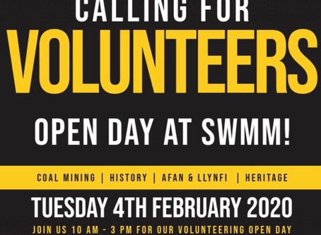Volunteer Open Day at SWMM onFebruary 4th 2020!