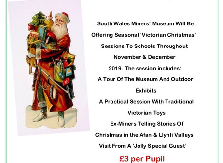 🎅🏻📚CALLING OUT TO ALL SCHOOLS !📚🎅🏻 Book to come along to South Wales Miners Museum throughout