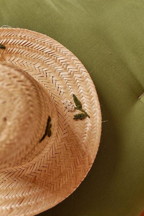 Chapéu de palha algodão