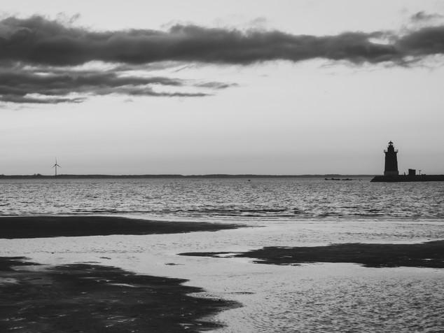 wind turbine and lighthouse