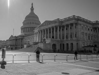 barricades around the Capitol