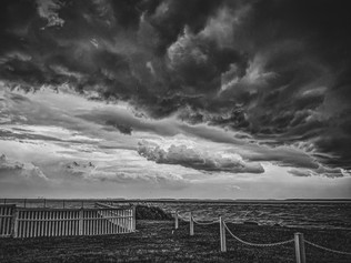 storm clouds over Rehoboth Bay