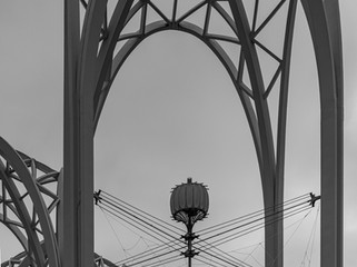 arches and a spider web