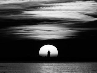 Harbor of Refuge lighthouse at sunrise
