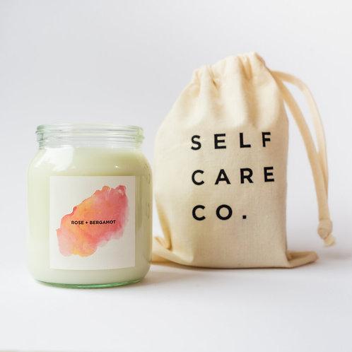 Rose & Bergamot - Self Care Co Candle (300ml)