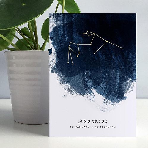 Star Constellation Birth Month Card