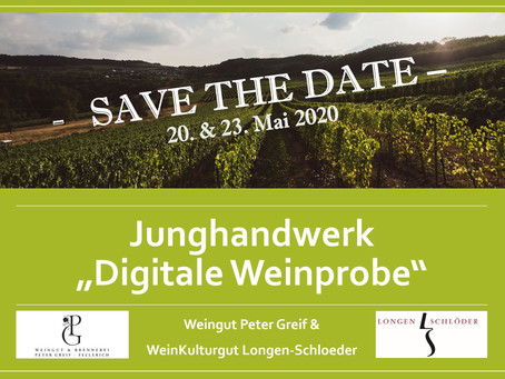 Digitale Weinprobe - Save the Date