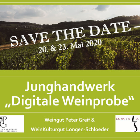 Digitale Weinprobe - Save the Date