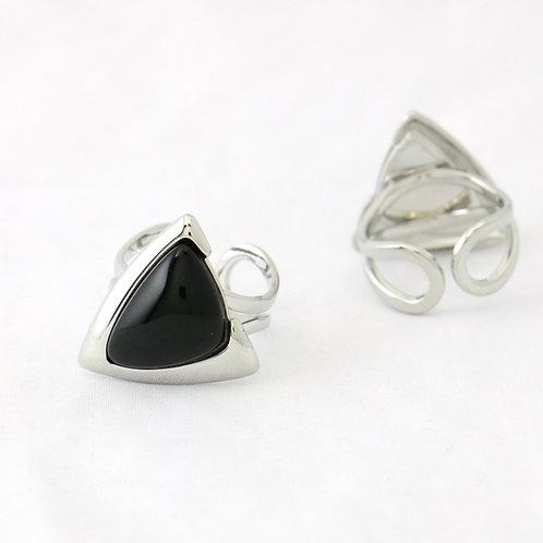 Bague Triangulaire Noire