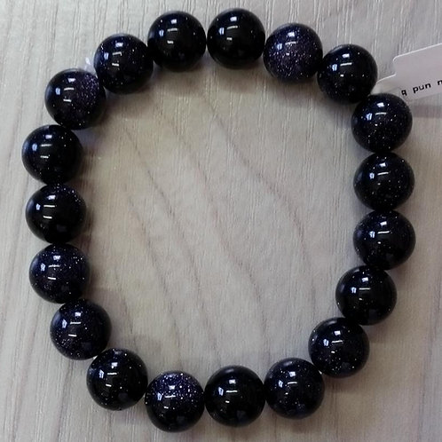 Bracelet en pierre du soleil bleu 10 mm