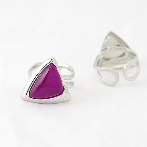 Bague Triangulaire Rose