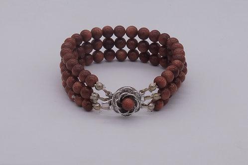 Bracelet en aventurine brune