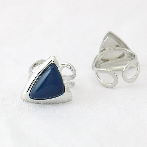 Bague Triangulaire Bleu