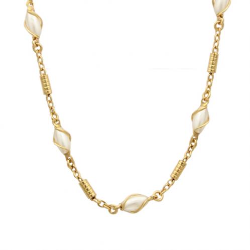 Collier en plaqué or et perle de majorque