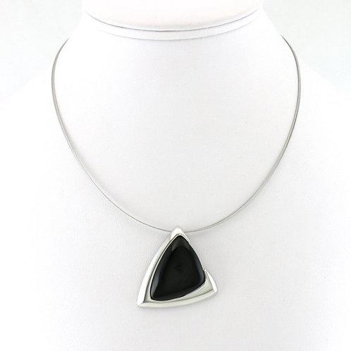 Collier avec pendentif Triangle Noir