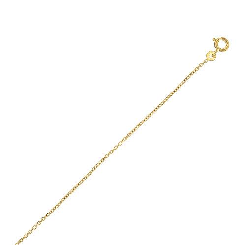 Chainette plaqué or 70 cm maille forcat fine