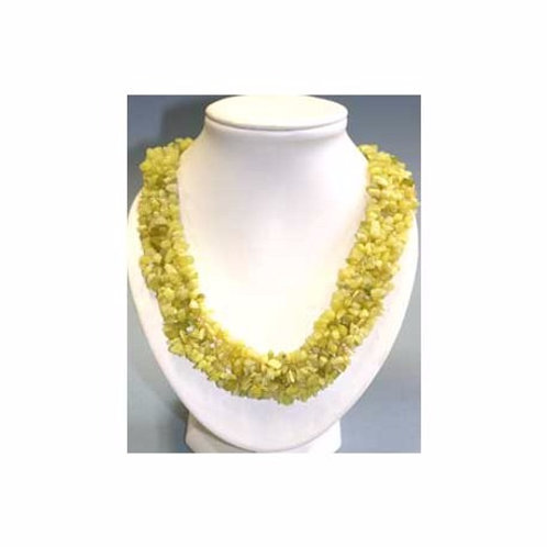 Collier en jade jaune