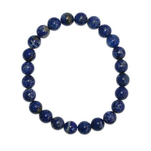 Bracelet en lapis lazuli 12 mm qualité A